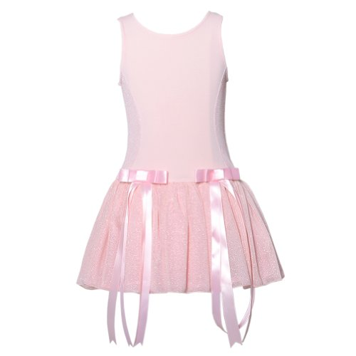 Dolls and Diva Couture Little Girls Light Pink Shimmer Easter Party Dress 4-6X