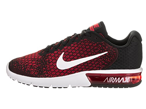 Nike Air Max Sequent 2, Chaussures de Running Homme, Multicolore BLACK/WHITE-TEAM RED-UNIVERSITY RED