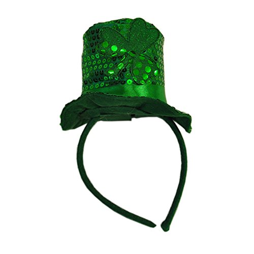 Day Sequin Leprechaun Top Hat Style Hair Band (Womens St Patricks Day Kostüme)
