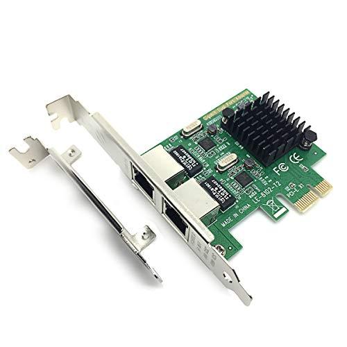 Glotrendos Tarjeta Red RJ45 Gigabit Ethernet PCI Express/PCIE