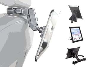 DURAGADGET Coque housse multifonction en TPU rigide pour iPad 2 (sortie 2011), le nouvel Apple iPad / iPad 3 et iPad 4 avec écran Retina (4ème génération, 2012) - Etui avec support de maintien et fixation appui-tête voiture - vue horizontale et verticale