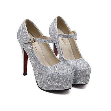 Moda Donna Sandali Sexy donna tacchi Primavera / Estate Autunno / Piattaforma / Comfort PU / Abito in pizzo / Casual Stiletto Heel rosa / a piedi di mandorle / Altri Silver