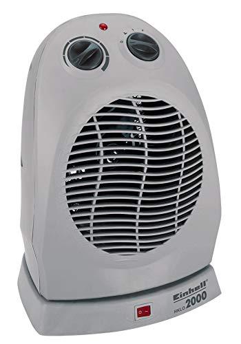 Einhell Heizlüfter HKLO 2000 (bis 2000 Watt, 90° Schwenkfunktion, Thermostatregler, 2 Heizstufen, Sicherheitsabschaltung bei Überhitzung/Umfallen)