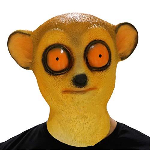 GXDHOME Halloween Latex Kopf Masken, lustige Macaque Monkey Monste Grimasse Spukhaus Kostüm Zombie Scary Gruselige Ghost Fancy Dress