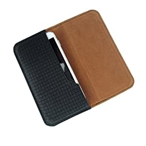 i-KitPit : PU Leather Flip Pouch Case Cover For Lava iris 503 (BLACK)