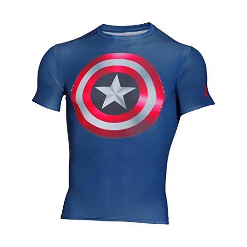 Maglia sportiva Under Armour Alter Ego Captain America - Independence Blue 401 (Small)