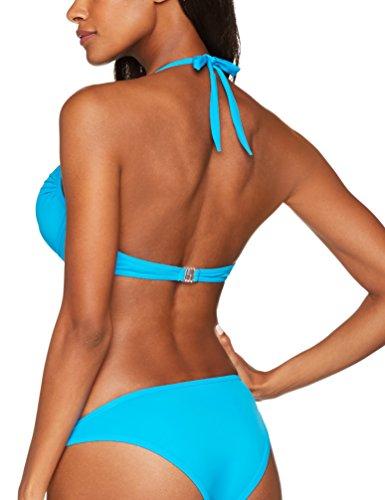 Iris & Lilly Damen Bikini-Oberteil mit Neckholder Blau (Marine Blue)