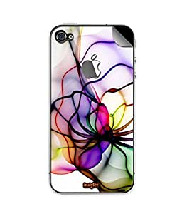 indiaspride SKIN STICKER FOR APPLE I PHONE 4s with logo