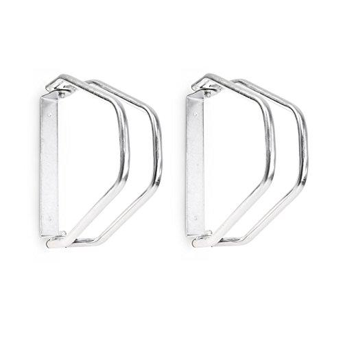 2x Fahrradständer im Set, Wandparker als Einzelständer, zur Wandmontage, verstellbar, HBT 32,5 x 9 x 28,5 cm, silber