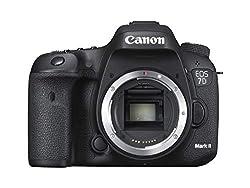 Canon EOS 7D Mark II Gehäuse + Wi-Fi Adapter W-E1 (20,2 MP, 7,7cm (3 Zoll) Clear View II TFT-Display, Dual Digic 6,Full-HD-Videos, Zwei Speicherkarten-Steckplätze (1x CF und 1x SD) WLAN, GPS)