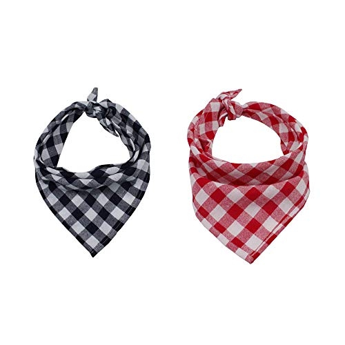 lassische Pet Plaid Bandana Waschbar Pet Speichel Handtuch Stilvolle Pet Schals Hals Dekoration für Kleine und Mittlere Hunde ()