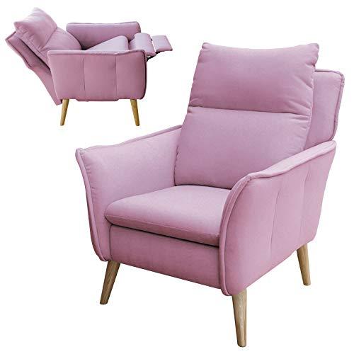 1 Place To Be Hochwertiger Skandinavischer Relaxsessel Insideout Schlaffunktion Rosa 16 Weitere Farben Eiche Buche