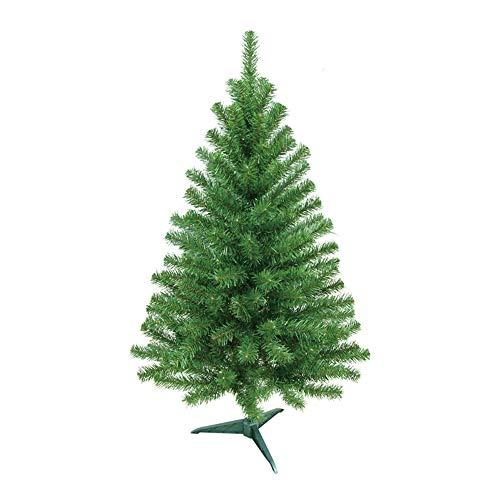 HENGMEI 90cm PVC Weihnachtsbaum Tannenbaum Christbaum Grün künstlicher mit ständer ca. 100 Spitzen Lena Weihnachtsdeko (Grün PVC, 90cm)