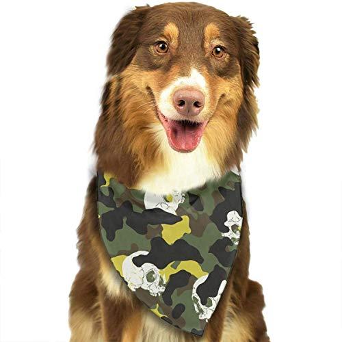 Osmykqe Schädel-Tarnungs-Muster-stilvoller Hundebandana-Lätzchen-Schal-Haustier-Hundekatze-Hundeschal