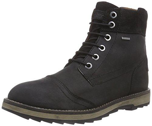 Geox U SHOOVY WP A, Herren Chukka Boots, Schwarz (C9999BLACK), 43 EU