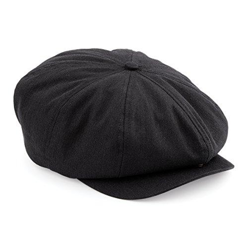 279ff31f8739c Mens Retro Style Black Baker Boy Hat Newsboy Gatsby Country Flat Cap Peaky  Blinders Beckham Style