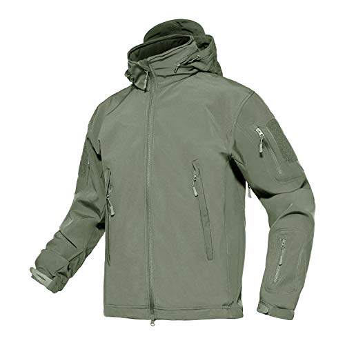 41dGhTHBEXL. SS500  - MAGCOMSEN Men Outdoor Hooded Softshell Mountain Hiking Jackets Waterproof Raincoat
