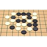 Sumferkyh-toy Colección de Juegos Juego de Mesa de Estrategia Chino Go Set con Bamboo Go Board e Incluye Bowls and Stones 2 Player Classic Diseño de Tabla Plegable portátil para niños y ADU