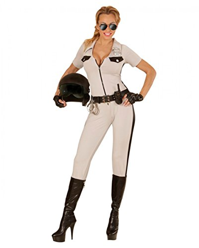 Horror-Shop 3-TLG. California Highway Patrol Girl Polizei Kostüm-Set S