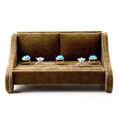 Schmuckständer,Eis Blume Samt kreative Sofa Ring Stand Ohrringe Ohrringe Halskette Stand Schmuck Display Ornamente - braun