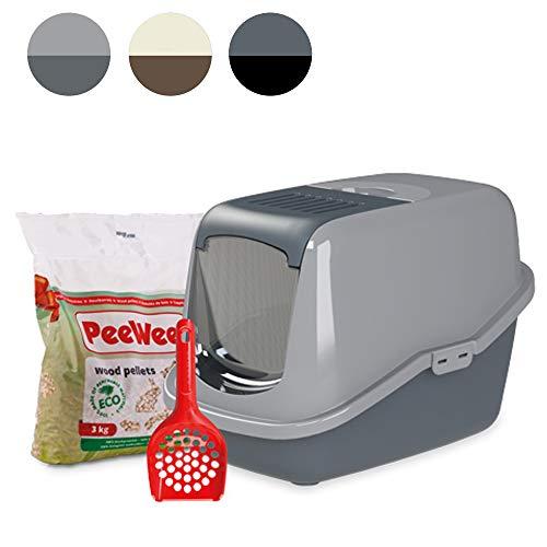 PeeWee EcoHus - Katzentoilette - Starter-Paket Grau -