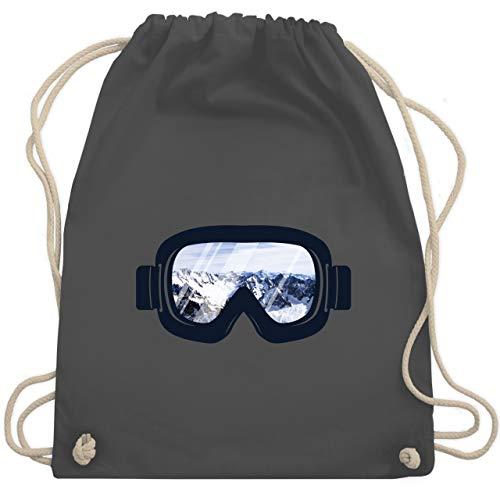 Wintersport - Ski Brille Aussicht - Unisize - Dunkelgrau - WM110 - Turnbeutel & Gym Bag