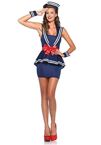 Leg Avenue 85403 - Aye Aye Amy Damen kostüm, Größe Small (EUR - Leg Avenue Seemann Kostüm
