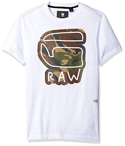 G-STAR RAW Herren T-Shirt Cheldan R T S/S Weiß (White 110)
