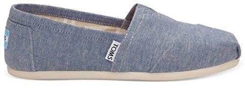 Toms Classic Blue Slub Chambray Womens Canvas Espadrilles Shoes-6