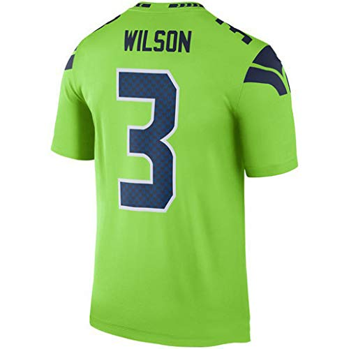 cjbaok NFL Jersey Seattle Seahawks Fußball Jersey Fan Edition Stickerei T-Shirt Kurzarm Sport Top,Green-3,M
