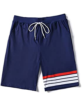 HAIYOUVK Beach Pants Men Loose Large Size Five Minutes Quick Dry Plus Fertilizer Increase Couples Seaside Resort...