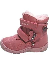 Kinder Stiefel Stiefelette Winter Schuhe Fell Boots Winterstiefel Gr 21-26
