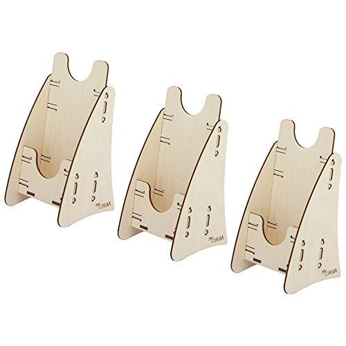 myORGA no.7 - Prospektständer Holz DIN lang - 3 Stück - Prospektaufsteller - Flyer/Prospektbox -...
