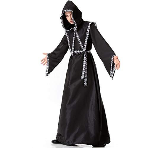 LCWORD Mens Halloween Kostüme Erwachsenen Gotischen Zauberer Phantasie Cosplay Kostüm Europäischen Religiösen Priester Robe Uniform