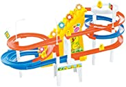 Popsugar - TH551A-31 Happy Duck Double Sided Track Set with Music and Lights, Multicolor