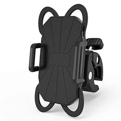 Delicacy Handyhalterung Fahrrad,Anti-Shake Motorrad Handy-Halter, 360 Grad Rotation Silikon Handyhalterung für iPhone X 8 Plus 7 Plus 6S Plus Samsung S9 Plus S8 Plus S7 S6 GPS MP4 Player, 3,5-6,3 Zoll