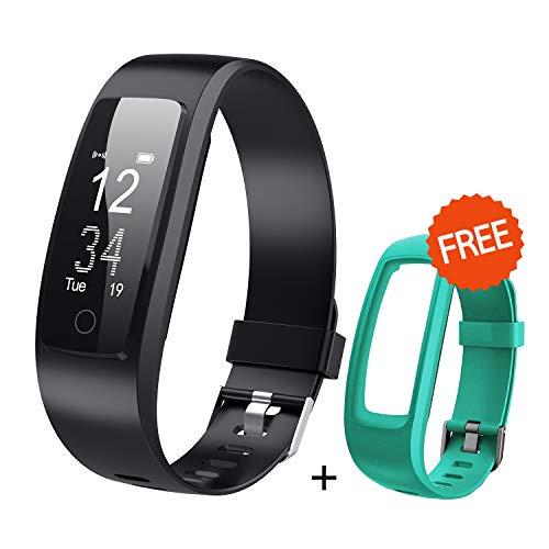 DBPOWER Fitness Tracker Armbänder mit Herzfrequenz Activiey Tracker Schrittzähler Bluetooth Fitness Watch Schlafüberwachung, Smart Watch mit Anruf/SMS für iOS/Android Smartphone