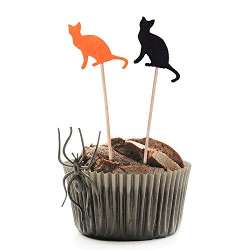 raduation Cake Toppers Obst Dessert Dekoration Graduation Insert Card für Party Favors Supplies 24 stücke (Katze) ()