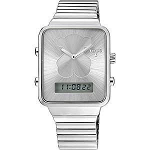 Reloj Digital I-Bear de Acero/IP Rosado/Correa de Silicona.