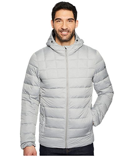 adidas Sport Performance Men's Quilt Down Jacket, Medium Grey Heather, Grey Five, Black, XL Quilt Down Jacket