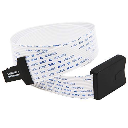 48 cm SD Card câble d'extension Extender Adaptateur Cordon Souple mâle vers  TF kit de Carte mémoire Flash