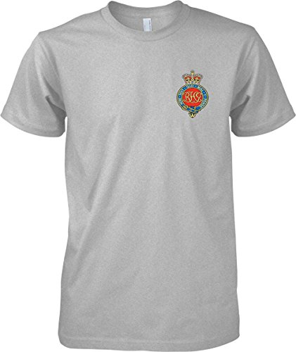 British Army Armour - The Royal Horse Guards Colour Badge - Official MOD T-Shirt - Sports Grey - Medium