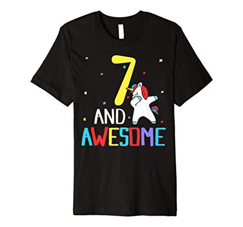 SaveMoneyes Dabbing Unicorn 7th Birthday Shirt