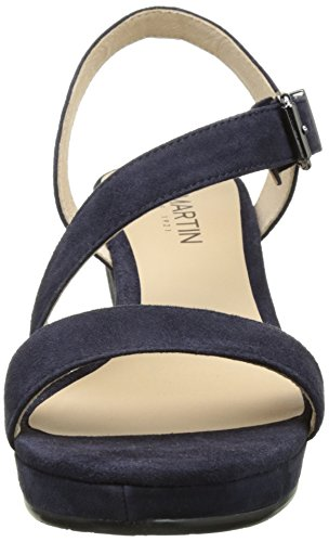 Jb Martin Quelle, Sandales Plateforme Femme Bleu (Chevre Velours Encre)