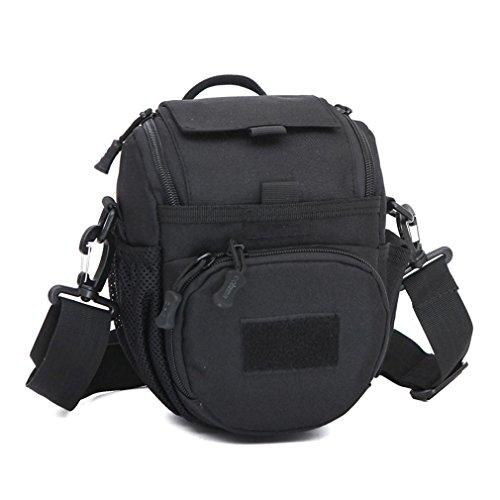 Handtasche / SLR Kameratasche / Tarnkamera Tasche / Messenger Bag Schulter / Tactical Assault Kleine ein Strap Sling Rucksack / Sport Packbag Black