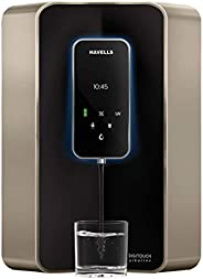 Havells Digitouch Alkaline 100% RO+UV, 6 Litre Water Purifier (Champagne & Bl