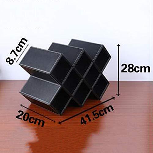 Plus Nahtmaterial (BinLZ Weinregale Massivholz Schwarz Weinschrank Wohnzimmer Bar Handgefertigt, um Jeden Raum zu Erfüllen, Acht Gitter, Schwarz)