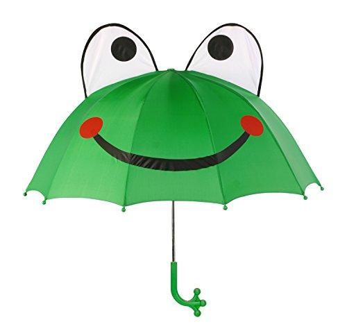 Kidorable Original Gebrandmarkt Kinder Regenschirm Frosch für Jungen, Grün