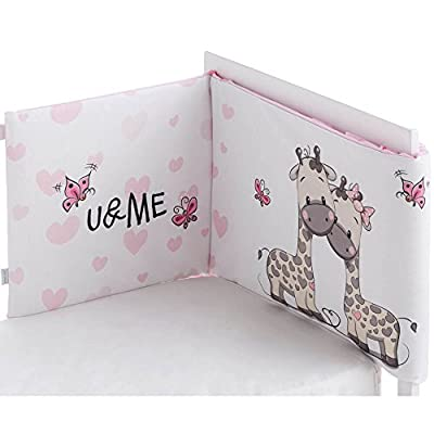 Pekebaby Ume - Protector desenfundable cuna, color rosa