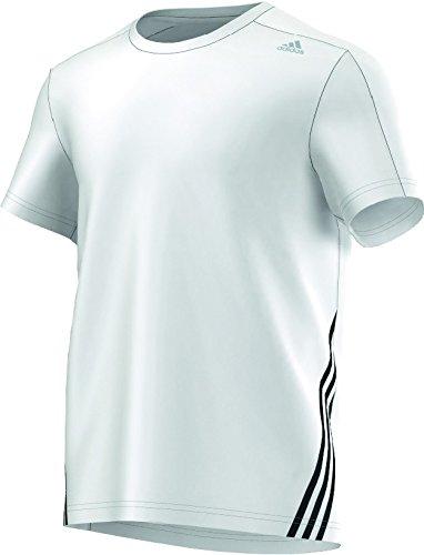 adidas Herren T-Shirt Clima Base 3-Streifen Mid DD Weiß